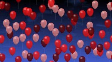 Partij ballonnen — Stockvideo