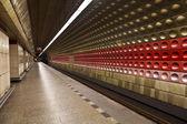"The interior of the station ""Staromestska"" of Prague metro — Stock Photo"