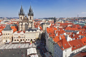 Prague. Tyn Cathedral of the Virgin Mary — Stock Photo