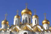 Domes of the Annunciation Cathedral in the Moscow Kremlin — Stock Photo