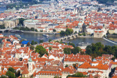 Panorama Prahy — Stock fotografie