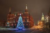 Night New Year Moscow — Stock Photo