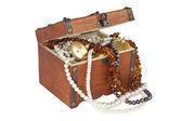 Treasure chest isolated — Stock Photo