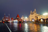 Red square during new year celebrations , Moscow, Russia — Stock Photo
