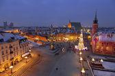Warsaw,Castle square — Stock Photo
