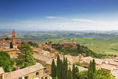 Scenery of old town of Montalcino — Stock Photo