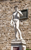 A copy of the statue of David by Michelangelo — Stock Photo