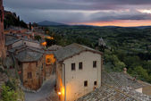 The medieval town of Montepulciano — Stock Photo