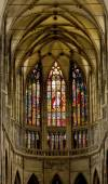 Stained glass windows of St. Vitus in Prague. — Stock Photo