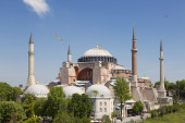 Hagia Sophia is the main church of the Byzantine empire, today a main landmark of Istanbul — Stock Photo