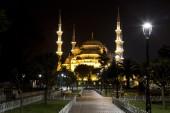View of the Hagia Sophia at night — Stok fotoğraf