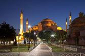 View of Saint Sophia at night, Istanbul — Stock Photo