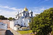 A Catedral de St Sophia (Santa sabedoria de Deus), o Kremlin de Novgorod — Fotografia Stock