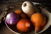 Vegetable on a scale — Stock Photo