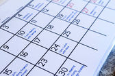 Checking monthly activities in the calendar — Foto Stock