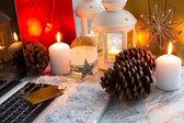 Las compras de navidad — Foto de Stock