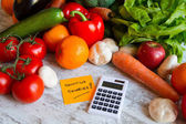 Counting calories — Stock Photo