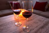 Drinking wine — Stock Photo