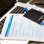 Travel insurance claim form — Stock Photo #65091843