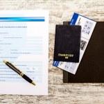 Travel insurance claim form — Stock Photo #65091879