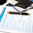 Filling a Travel insurance claim form — Stock Photo #65713509