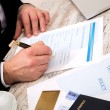 Filling a Travel insurance claim form — Stock Photo #67117135