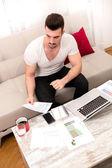 在宅勤務の実業家 — ストック写真
