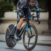 Camaiore, Italy - March 11, 2015: professional cyclist during the first stage of the Tirreno Adriatico 2015 — Stock Photo