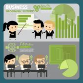Business people infographics. — Stock vektor
