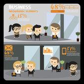 Business People infographics. Office work — Stok Vektör