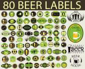 Beer label. Alcohol labels set. — Stock Vector