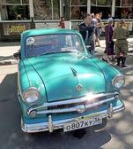 Sovětské ekonomiky retro auto šedesátých let sedan Moskvič 407 — Stock fotografie