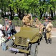 Постер, плакат: Willys MB car of U S Army and Red Army of WW2