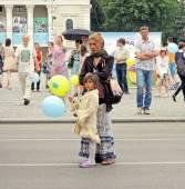 Street spectators — Stock Photo