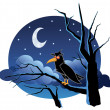 Crow in the Night — Stock Vector #53318427