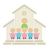 Barn i skolan — Stockvektor
