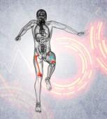 3d render medical illustration of the femur bone — Foto Stock