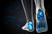 3d render medical illustration of the foot bone — Fotografia Stock