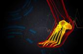 3d render medical illustration of the foot bone — Stock Photo
