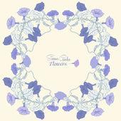 фон с цветами вьюнка — Стоковое фото