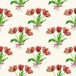 Seamless pattern  with tulips2-04 — Stock Photo #69740009