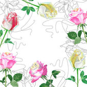 Background with red roses1-01 — Stock Photo
