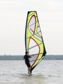 Learning to windsurf — Foto Stock