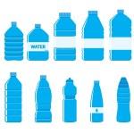 Plastic Bottles Icon Set on White Background — Stock Vector #69523737