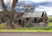Gamla nedgångna australiska historiska hemman — Stockfoto