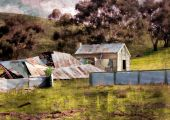 Old ruins of Australian homestead — Stock Photo