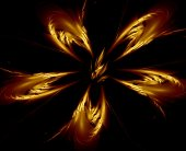 Flaming flower abstract fractal — Stock Photo
