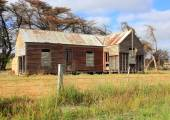 Old and dilapidated Australian country homestead — Stock Photo