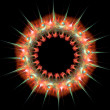 Colourful ring shaped star burst abstract fractal — Stock Photo #59073137