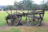 старый исторический фургон на конской тяге — Стоковое фото